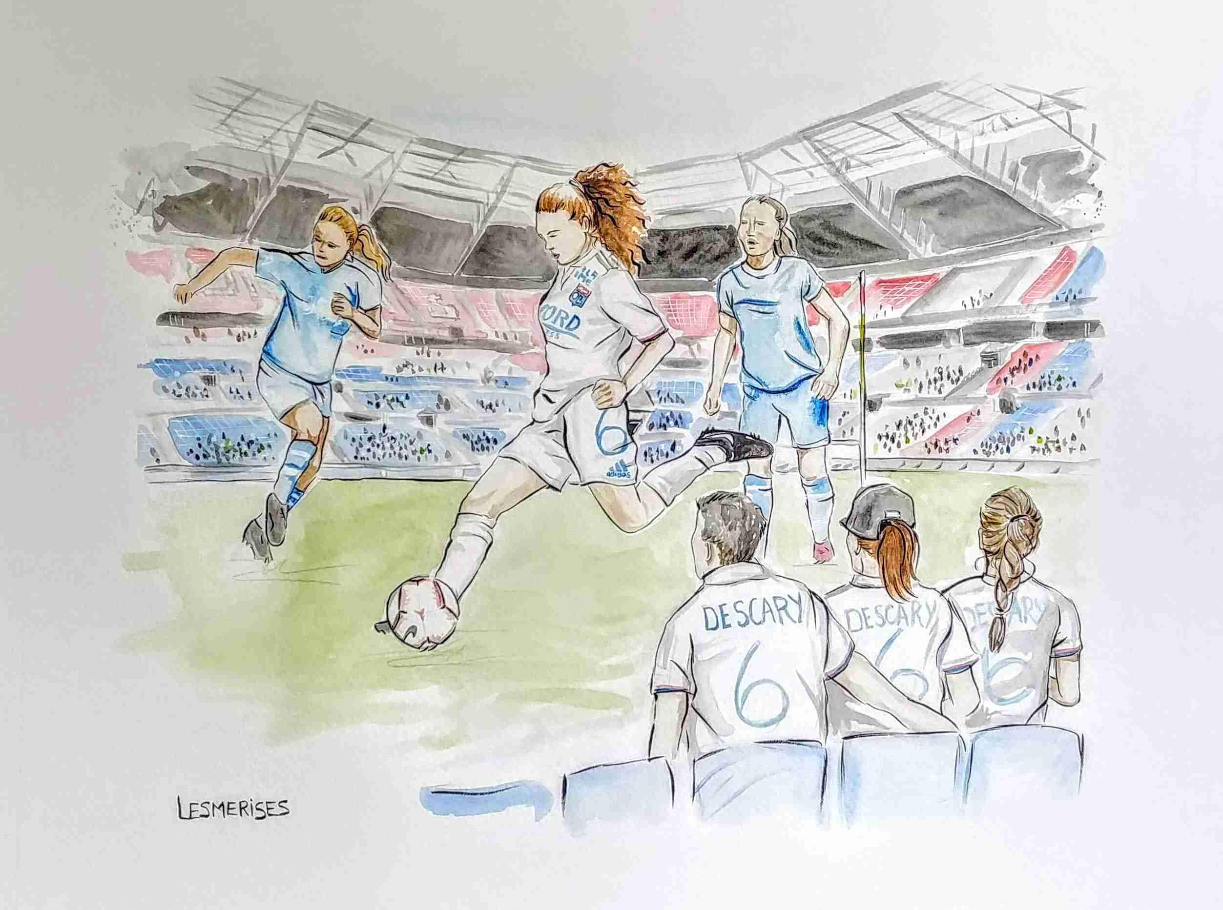 Aquarelle illustration soccer