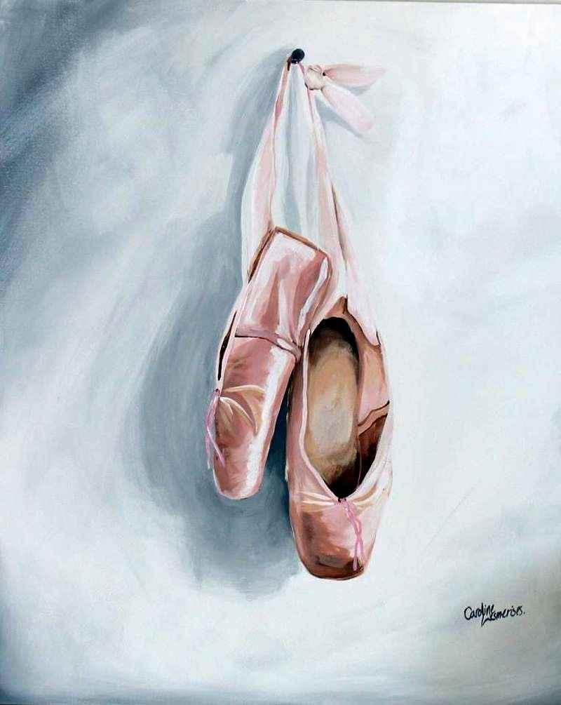 Toile chaussons de balet