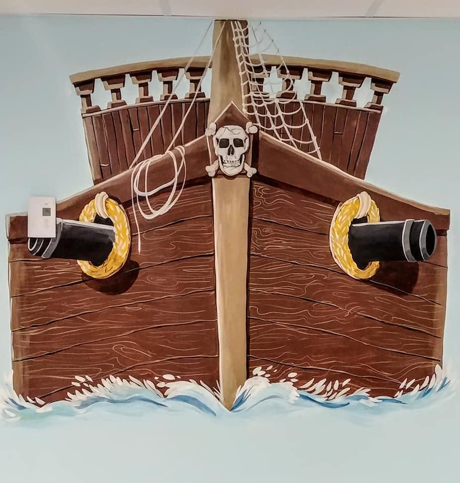 Murale bateau de pirate