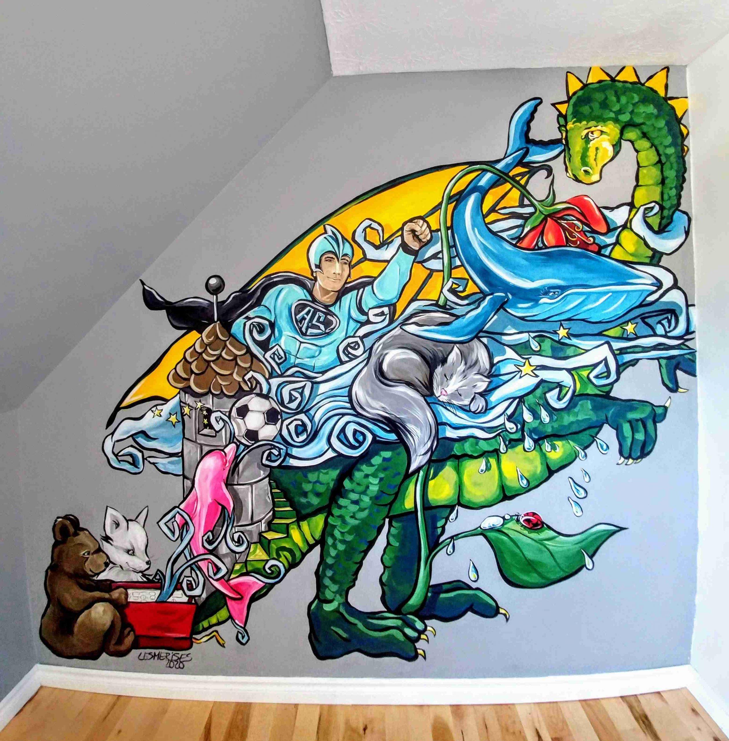 Murale chambre d'enfant