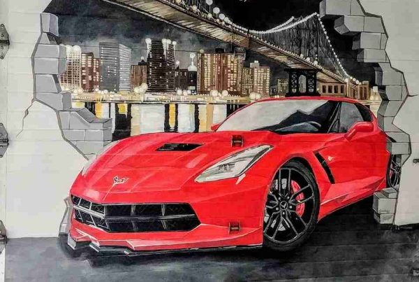 Murale Corvette