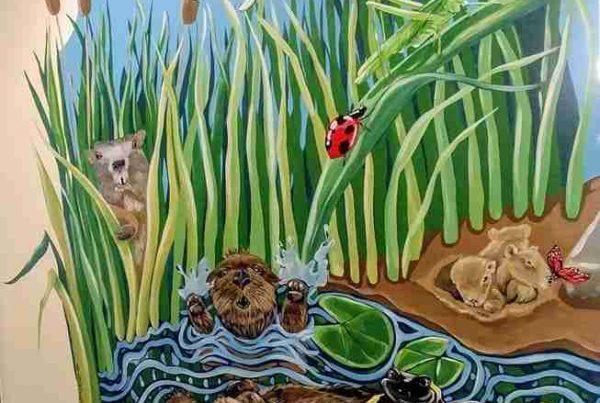 Murale Garderie Magimo étang