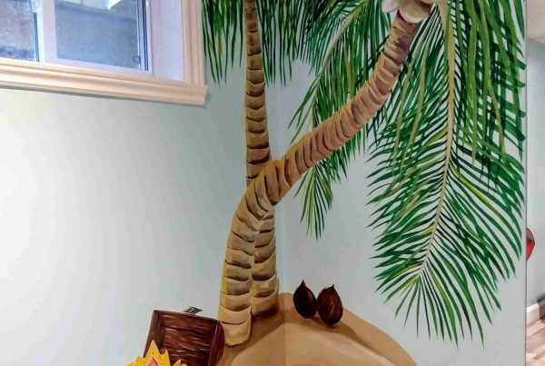 Murale palmiers