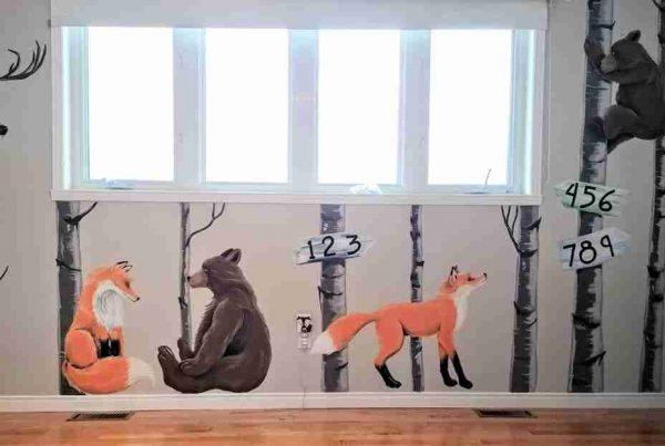 Murale renards et ours