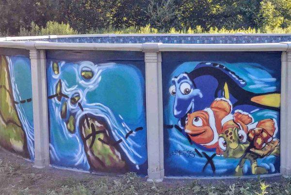 Piscine peinte Nemo