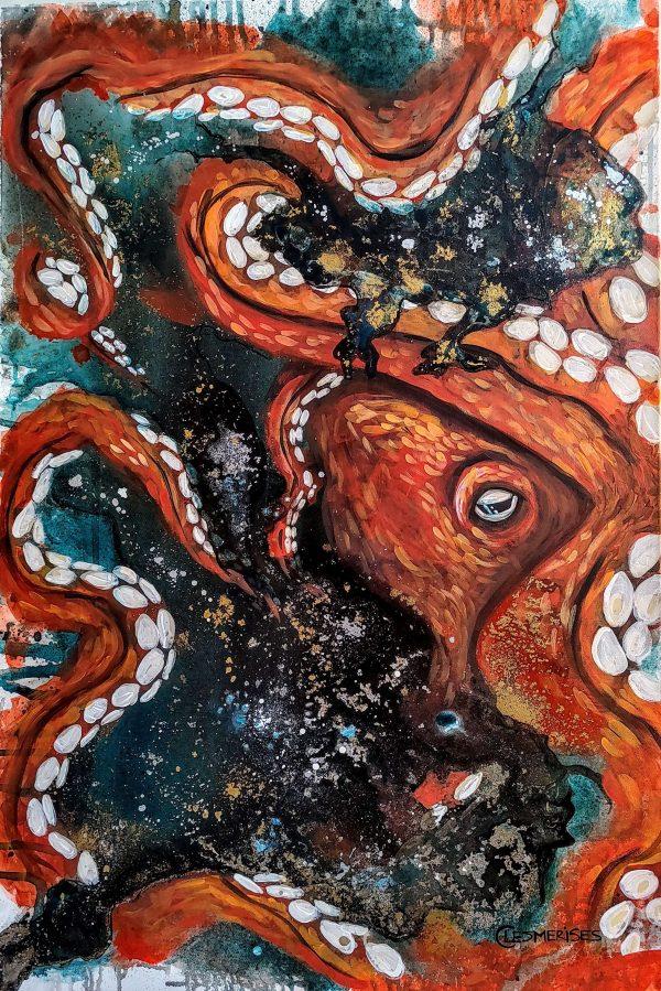 Profondeur toile peinte à l'acrylique