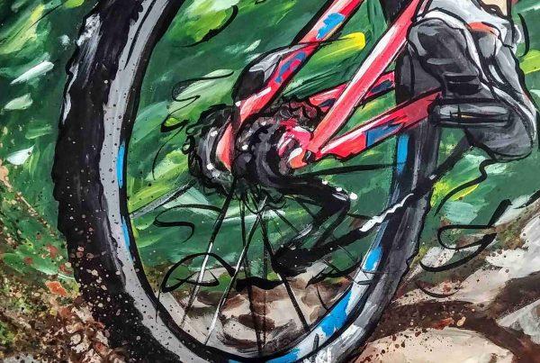 Toile vélo de montagne